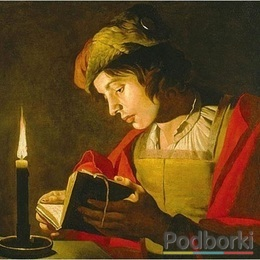 Main matthias stom young man reading by candlelight